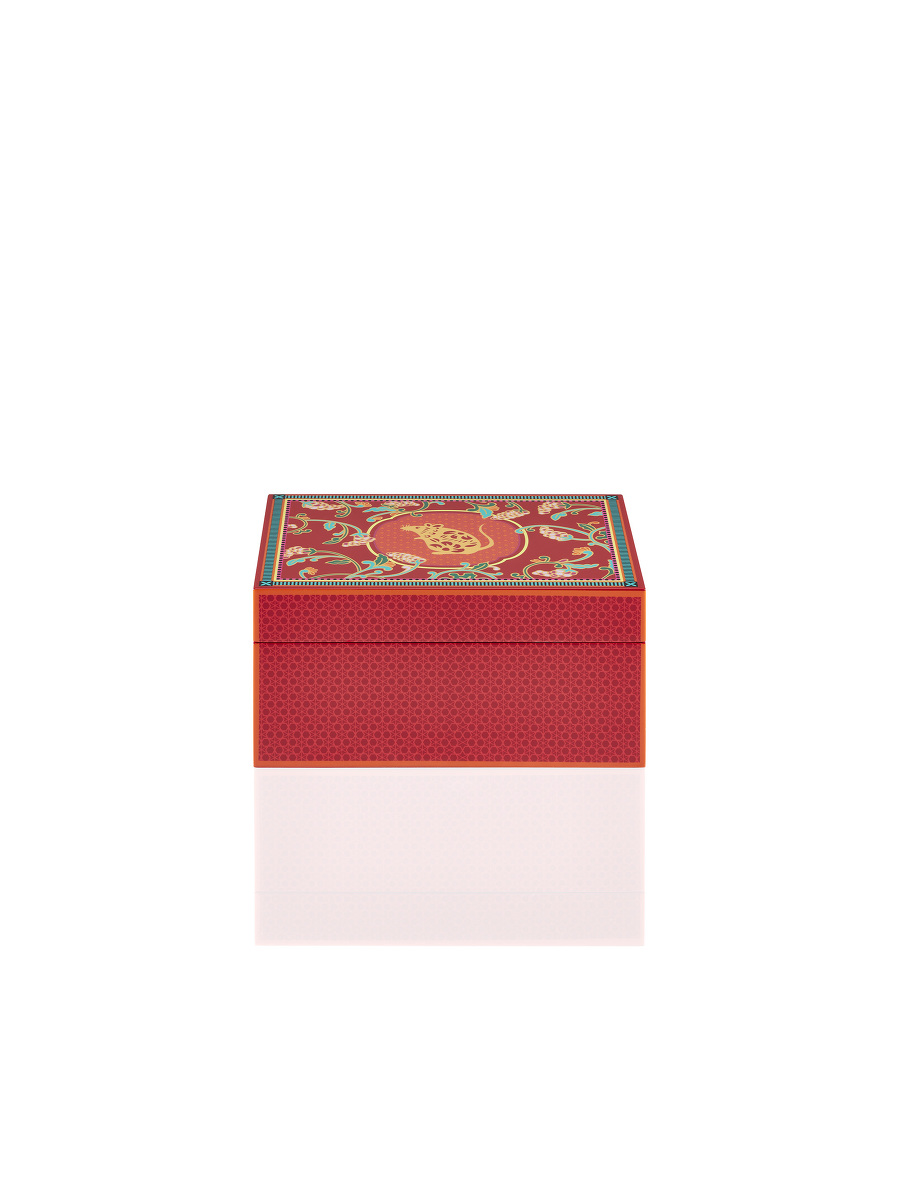 Rat and Grapes Lacquer Jewellery Box – Small