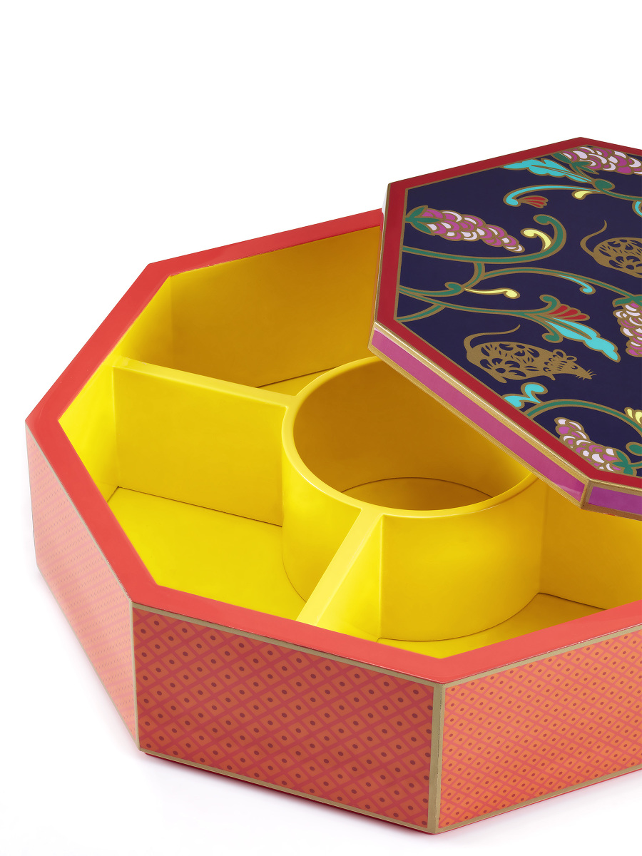 Rat and Grapes Lacquer Candy Box
