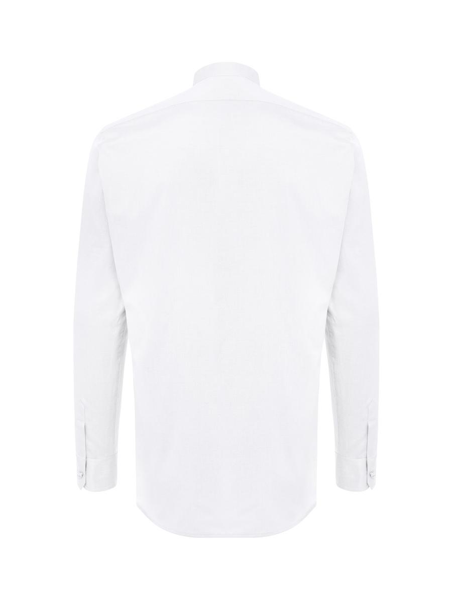 Hidden Arrow Embroidery Mandarin Collar Shirt