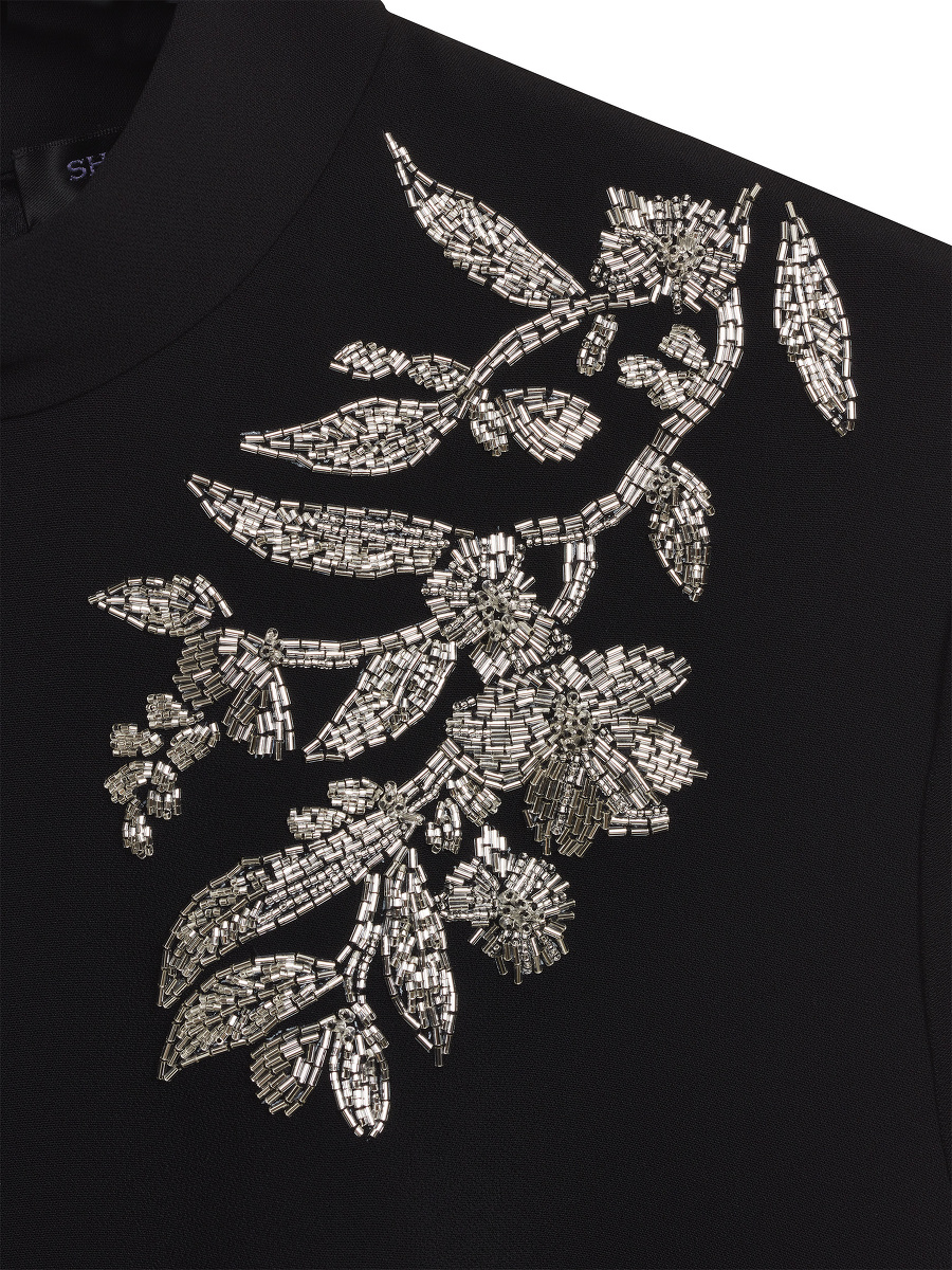 Floral Beadwork Embroidery Qipao