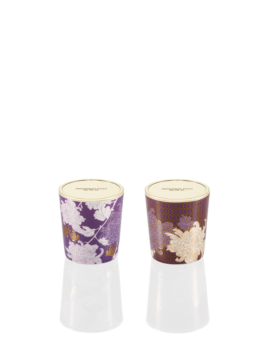Chrysanthemum Mini Scented Candle Set 55g x 2