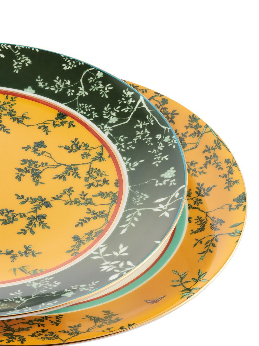 Forbidden Garden Fine Bone China Dessert Plate Set of 2