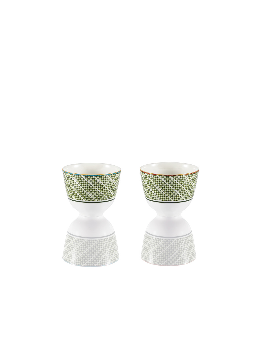 Forbidden Garden Bamboo Lattice Fine Bone China Teacup Set of 2