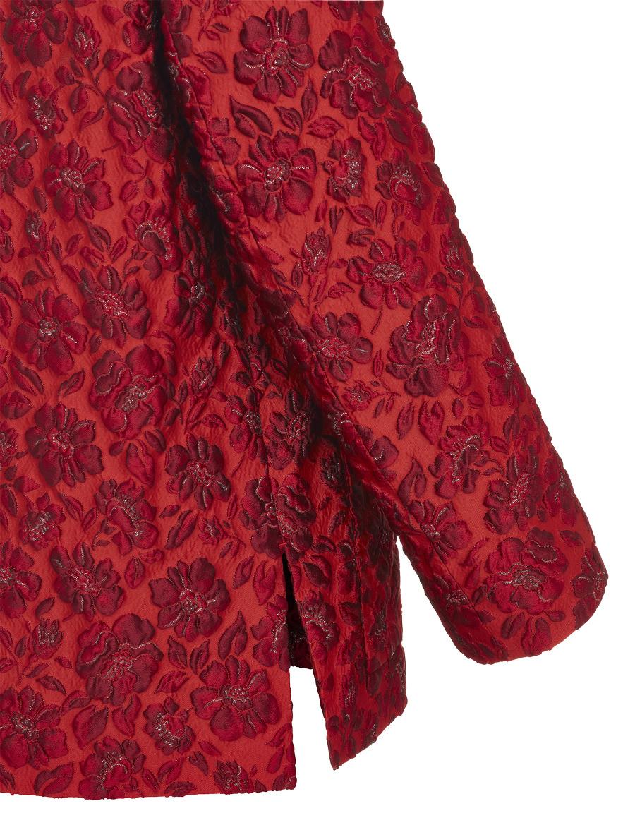 Embossed Floral Jacquard Tang Jacket