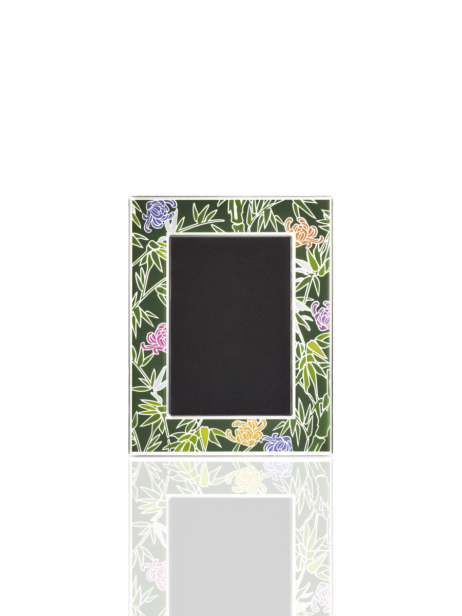 4R Bamboo Enamel Photo Frame