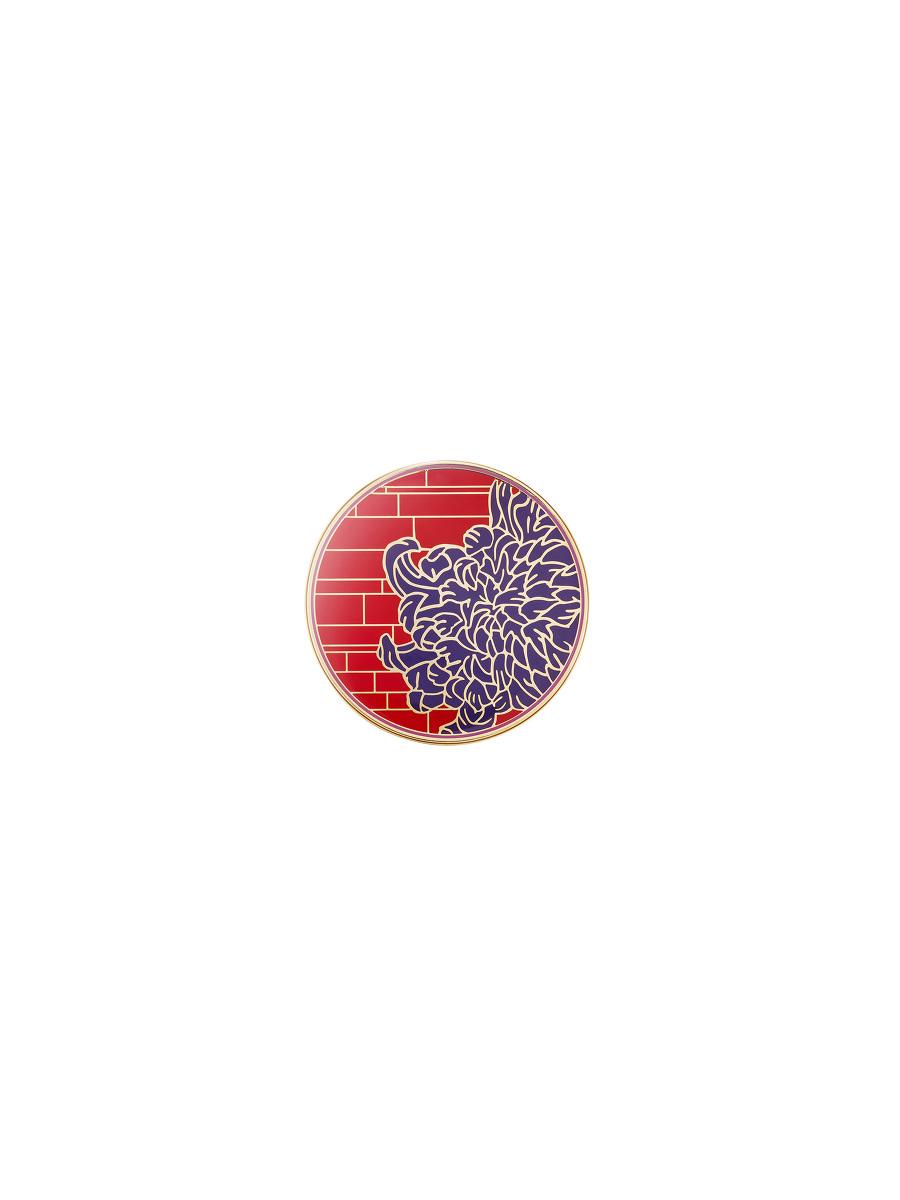 Chrysanthemum Lattice Round Enamel Box – Small