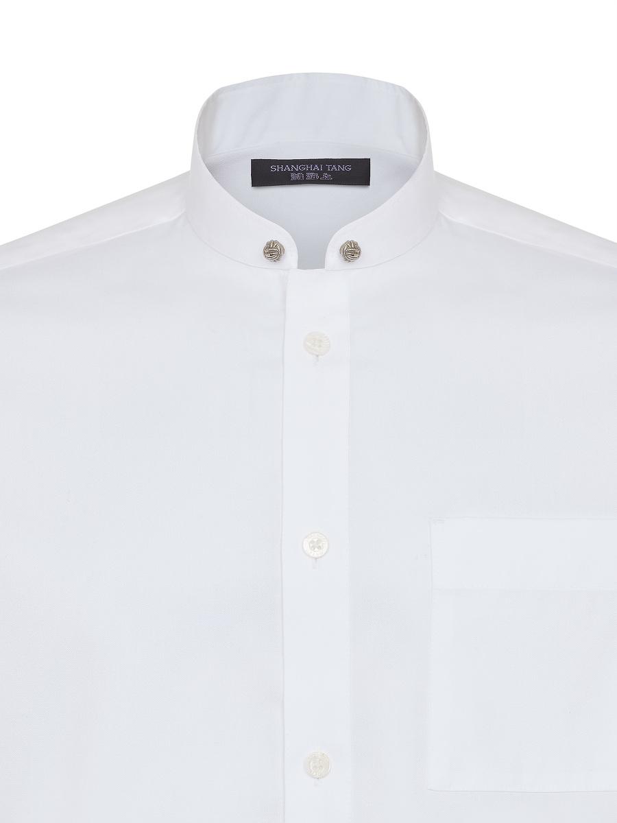Window Frame Metal Knot Button Shirt