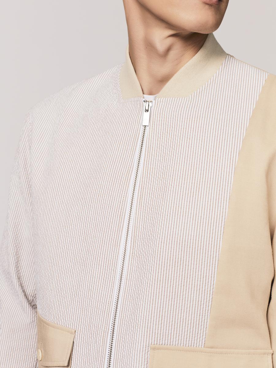 Seersucker Zip Jacket