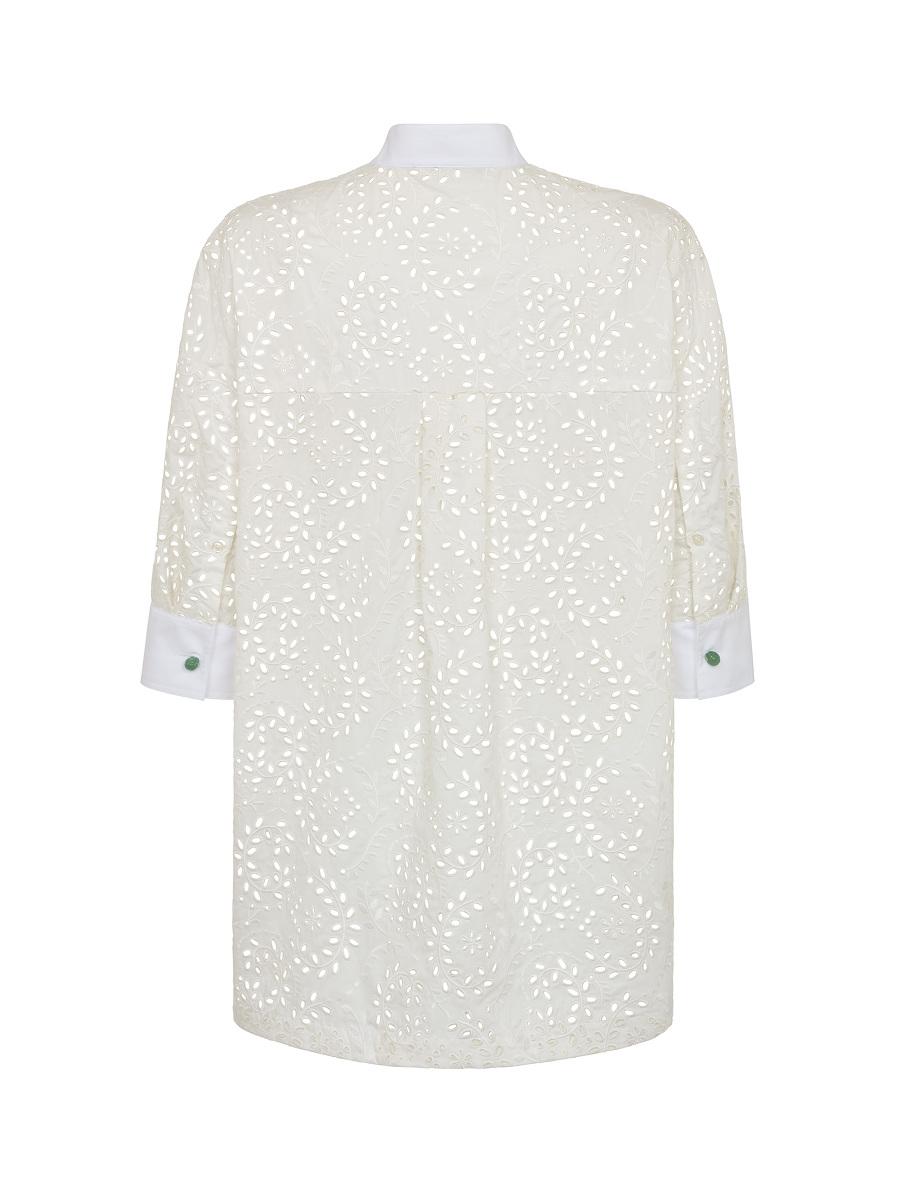 Lace Grain Eyelet Shirt