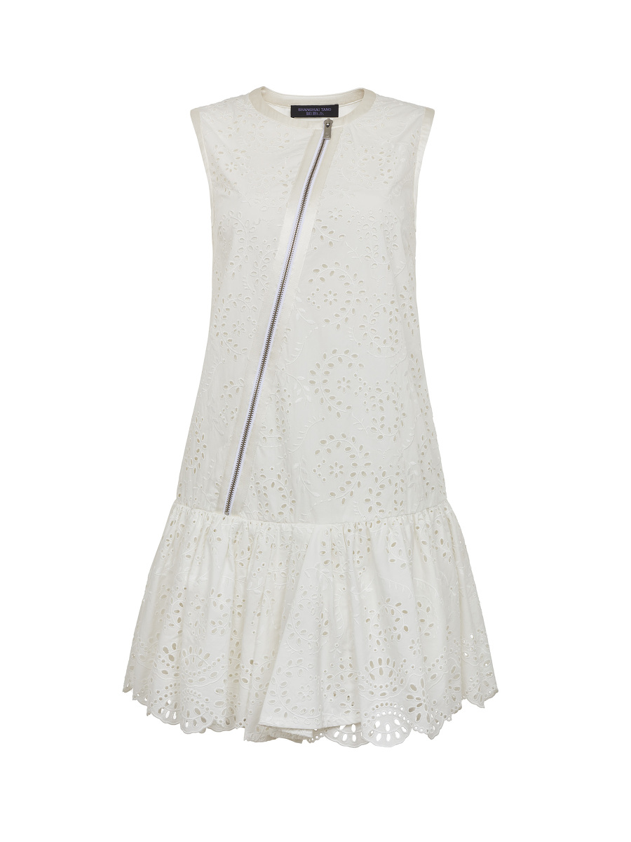 Lace Grain Eyelet Dress