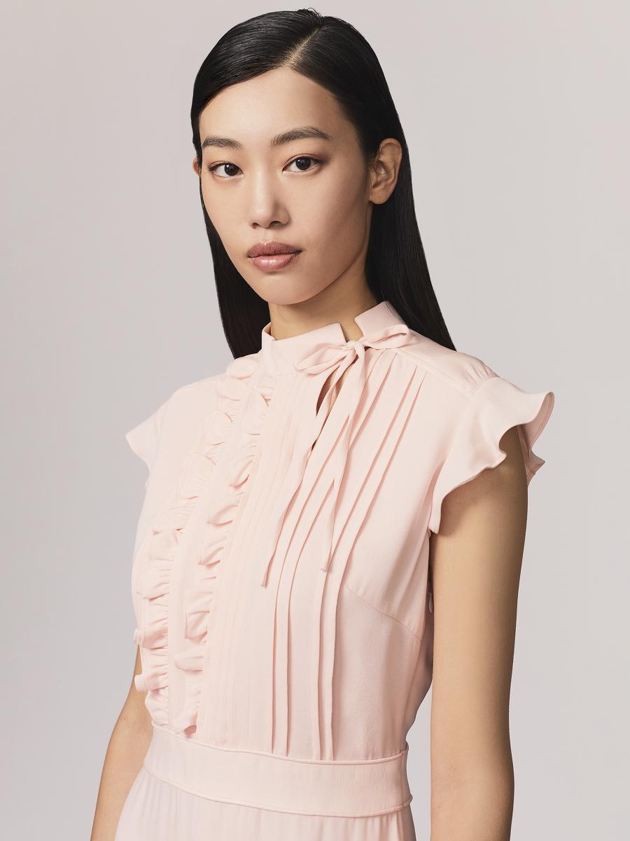Silk Georgette Crepe Dress