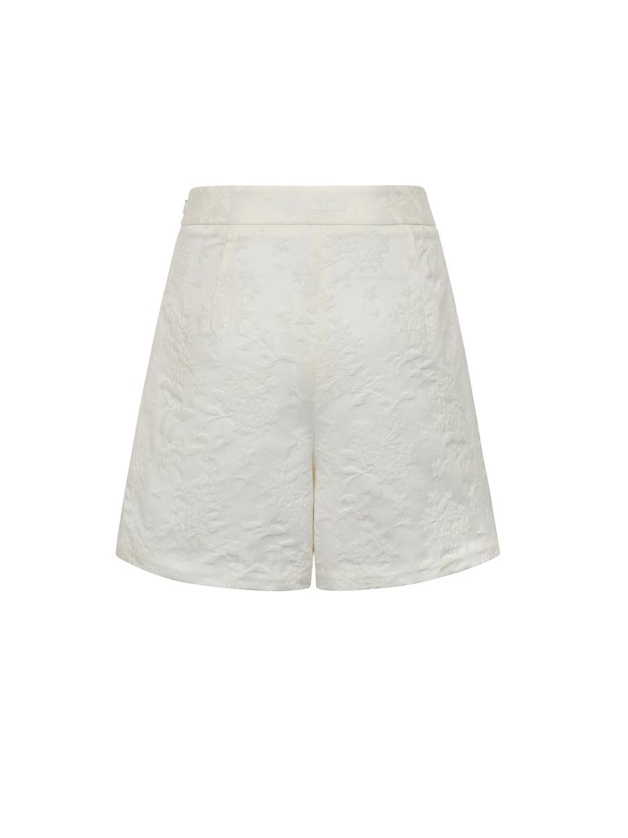 Azalea Jacquard Peony Beadwork Embellished Shorts