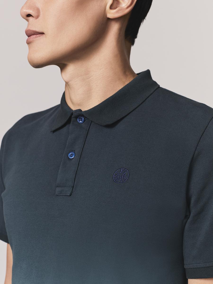 Gradient Dye Ombre Polo Shirt