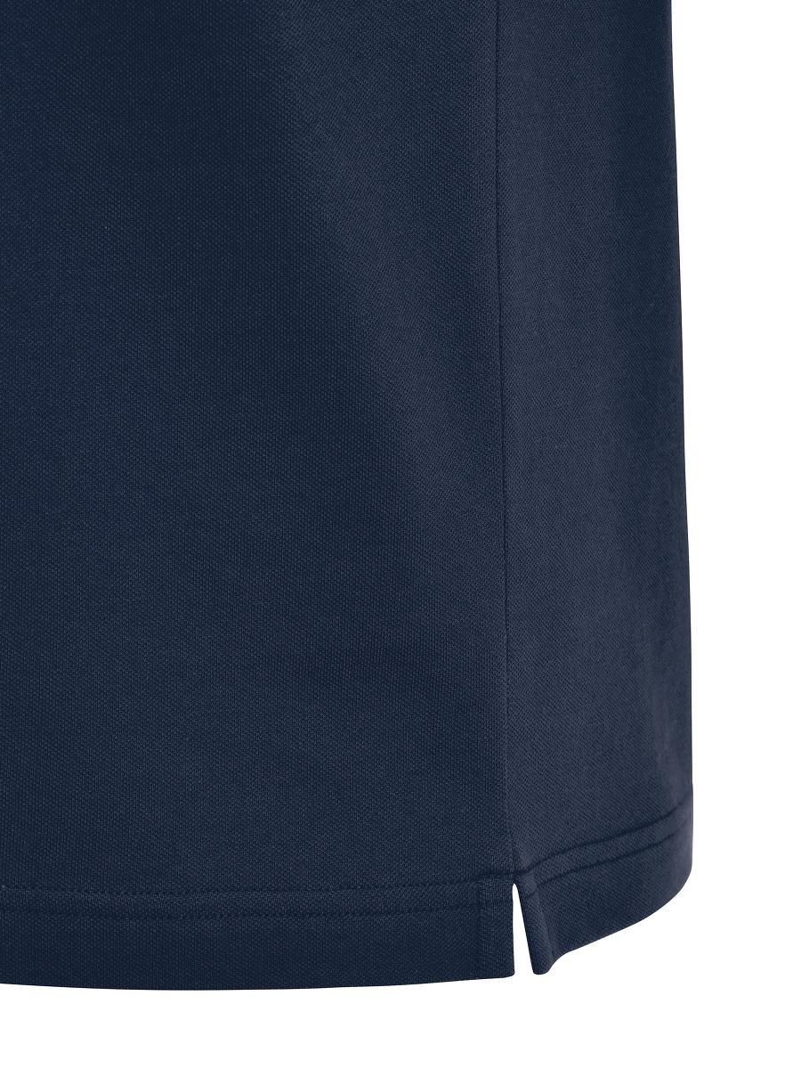 Mandarin Collar Tiger Patch Polo Shirt