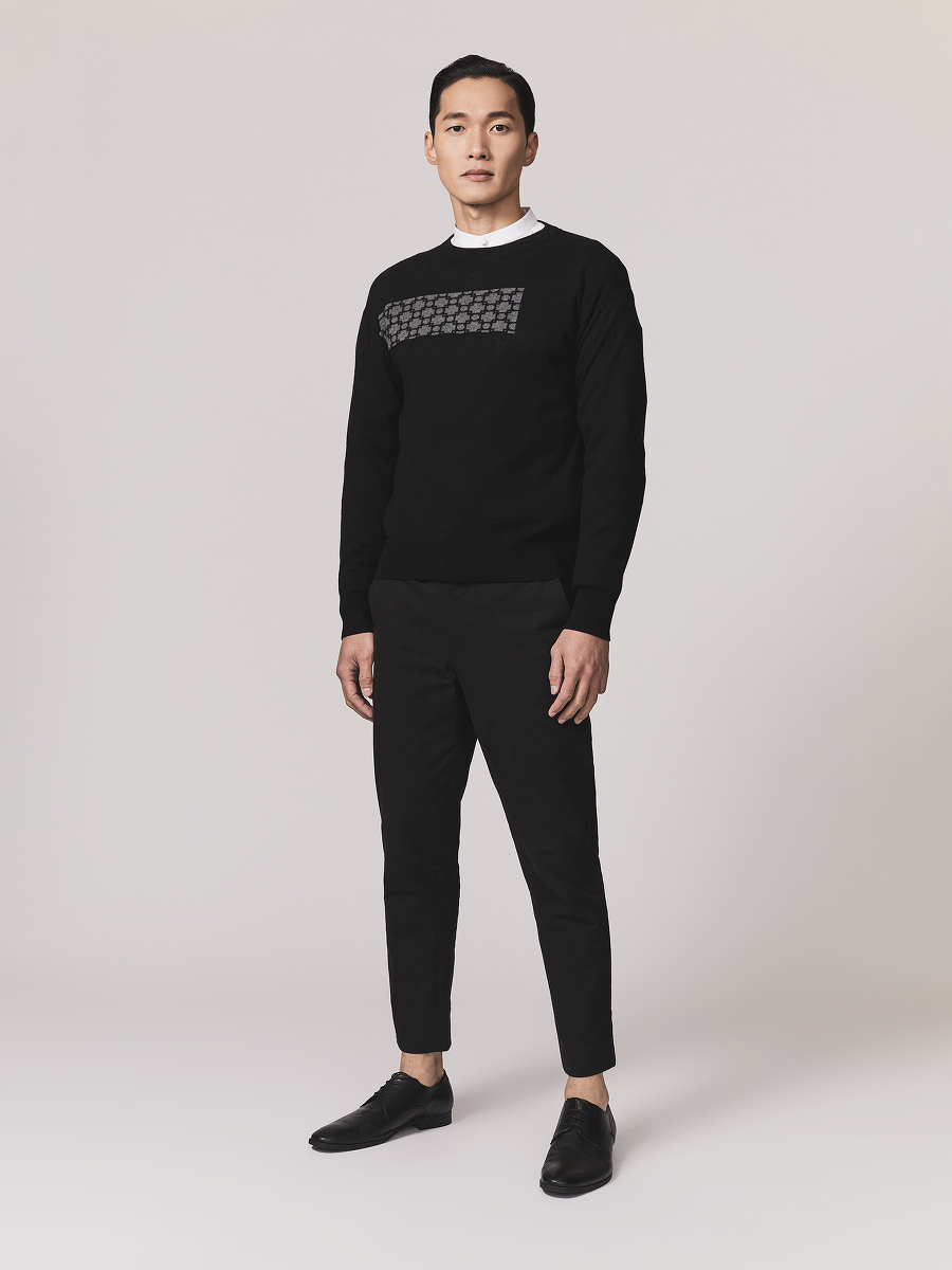 Window Frame Cotton Cashmere Sweater