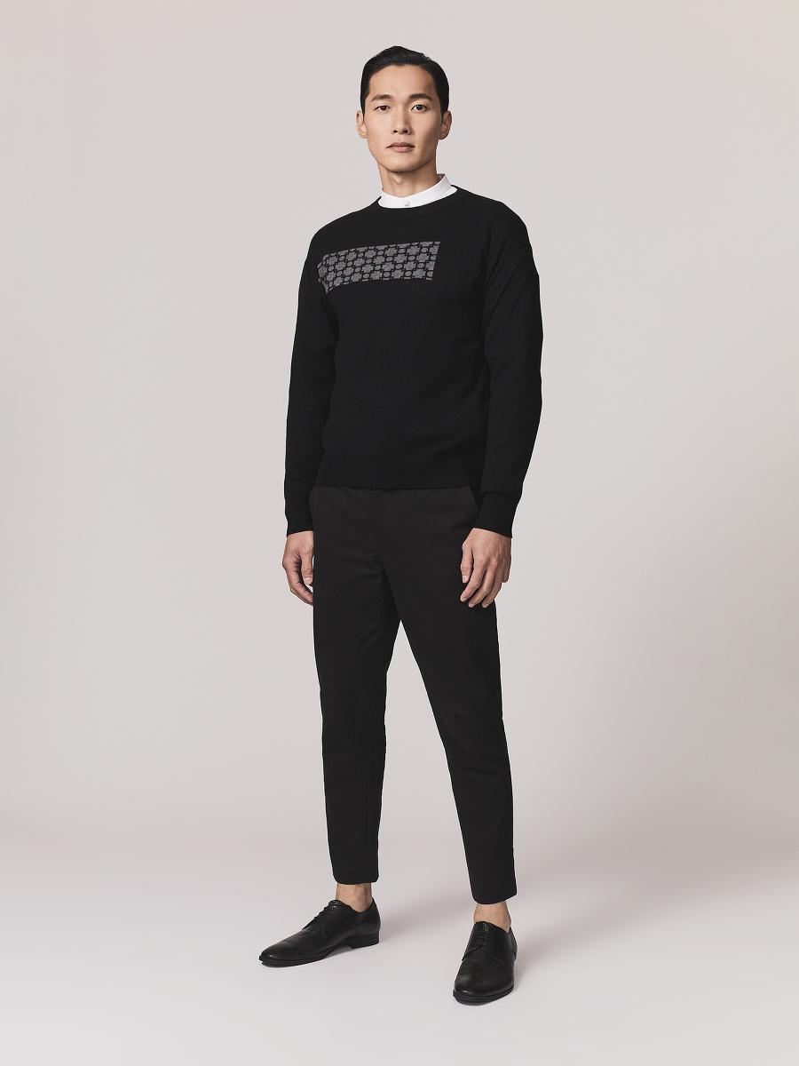 Window Frame Cotton Cashmere Sweater
