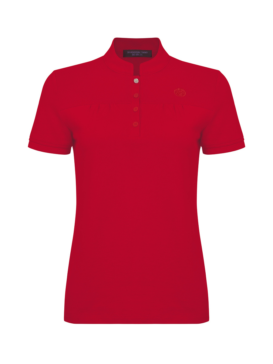 Mini Ruched Polo Shirt