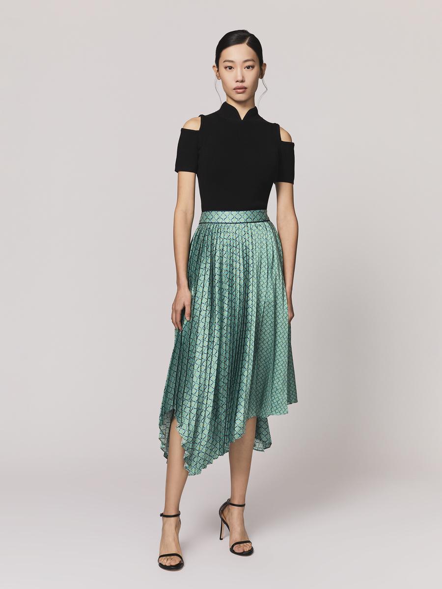 Shoulder Cutout Silk-Cotton Jersey Top