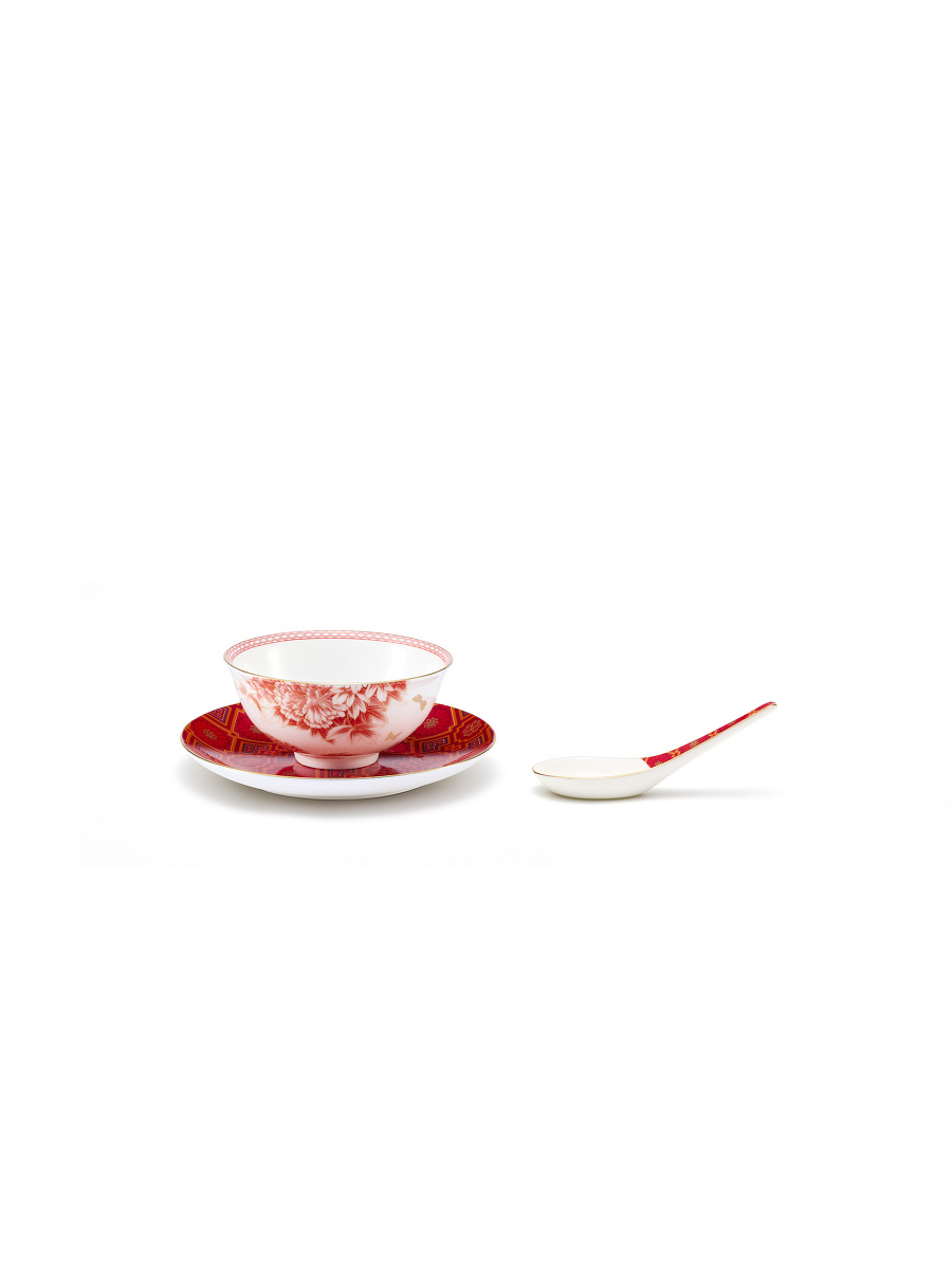 Wedding Fine Bone China Bowl and Spoon Set